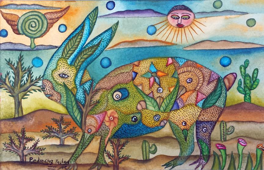 Paintings by Pedro Cruz Pacheco - rabbit